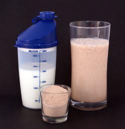 Proteinpulver och shake