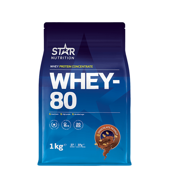 whey-80 proteinpulver 1kg, star nutrition